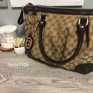 Gucci Monogram Sukey Top Handle (Large)